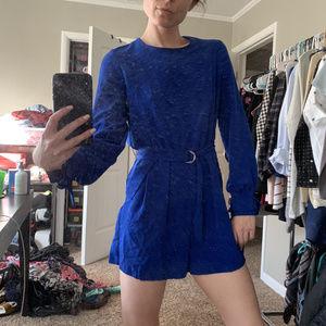 Blue ZARA Basic Jumpsuit, MEDIUM, great details!